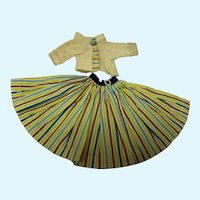 Miss Nancy Ann Yellow Stripe Skirt with Yellow Top