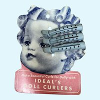 Ideal's Doll Curlers Hang Tag