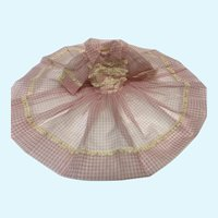 Madame Alexander Cissy Pink Nylon Checks Dress