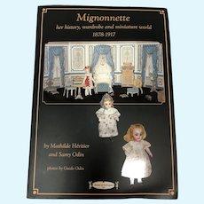 Mignonnette Her History, Wardrobe and Miniature World Book