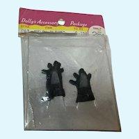 MIP Black Nylon Gloves for 8 - 10 1/2 Inch Dolls