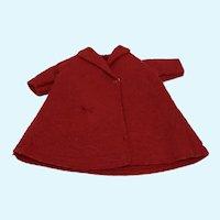 Madame Alexander Cissette Red Felt Coat