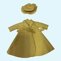 Jill Lemon Yellow Felt Coat and Hat