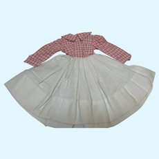 Madame Alexander Elise 1961 Pink and White Check Dress