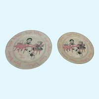 Two Vintage Ginny and Ginnette Happy Birthday Paper Plates