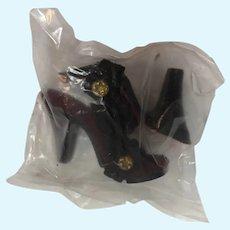 MIP Black High Heel Shoes for Cissy or Miss Revlon Dolls