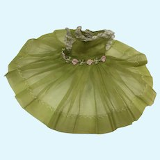 Madame Alexander Lissy Chartreuse Organdy Dress