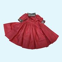 Madame Alexander Cissette Coral Polished Cotton Dress