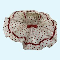 Madame Alexander Cissette White and Red Polka Dot Dress
