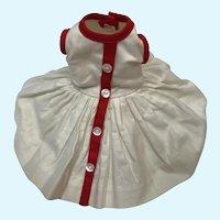 Madame Alexander Cissette White Dress with Red Trim