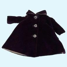 Madame Alexander Alexander-kin Purple Velvet Coat