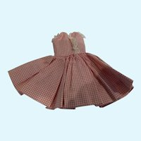 Madame Alexander Cissette Pink and White Checked Dress