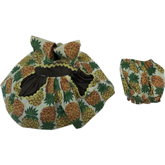 Vintage Ginny Pineapple Print Dress and Panties