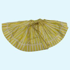 Madame Alexander Cissette Yellow and White Stripe Skirt for Cabana Outfit