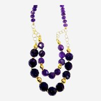 Purple Faceted Amethyst  necklace with special Accessories