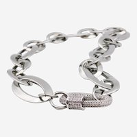 Stainless Steel Necklace with Decoration lock accessory