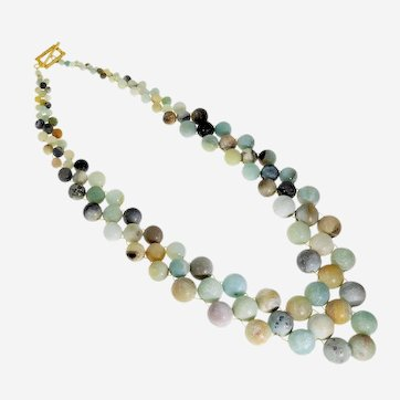Gray and Brown Agate special claims Necklace