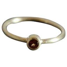 Hessonite Garnet 14kt Yellow Gold Ring
