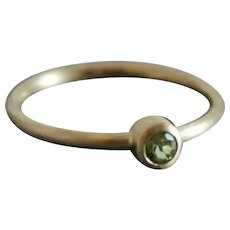 Peridot 14kt yellow gold ring