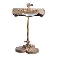 Antique 19th Century French Art Nouveau Bronze Piano/Desk Lamp