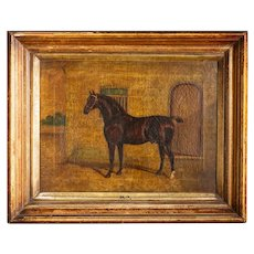 Antique Victorian Late 19th Century Oil Painting On Canvas By Albert Clark