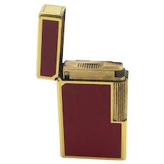 Vintage S.T Dupont Lighter Line 1 'Laque De Chin'  Gold Plated