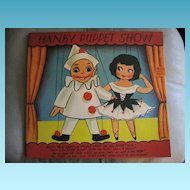 Puppet Show Large Greeting Card NOS Hankie Hanky Holder