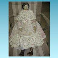 Greiner Head Papier Mache Head Doll Circa 1850s