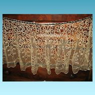 Lace Cape Exquisite Shawl Tape Lace with Netting Inserts