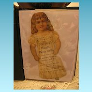 Antique Advertising Paper Dolls Hoods Enterprise Brand Coffee Mother Goose & Animal Series