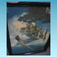 Vintage Maxfield Parrish Dinky Bird Framed Print