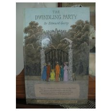 First Edition Signed By Author Book The Dwindling Party by Edward Gorey