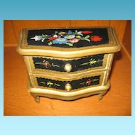 Chest of Drawers Jewelry Box or Doll Dresser Hand Painted Beauty!!