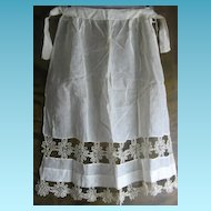Antique Early 1900s Handmade Lacey Apron