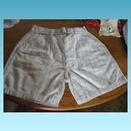 Stifel Vintage Boys Plaid Linen Button Front Shorts