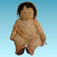 Sweet Cloth Dolly with Embroidered Face & Shoes!!
