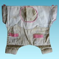 Adorable 1920s Vintage Baby Outfit Sewing Bag