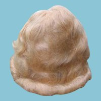 NOS Mohair Doll Wigs Never Used Blonde Mohair Wig or Brunette