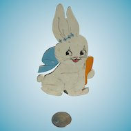Easter Bunny Rabbit Vintage Candy Container Cute