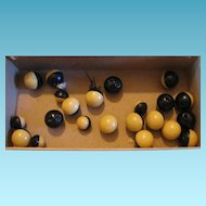Celluloid Ball Type Buttons for Jewelry Making