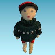 Vintage Boy Rag Doll Star Gazer Loves Winter and Summer!!