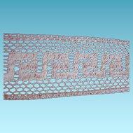 Geometric Design Ecru Net Lace