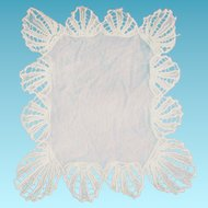 Old Net Lace Ecru Doily for Doll Bed