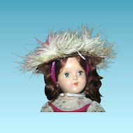 Straw Doll Bonnet or Feathered Hat