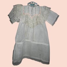 Antique Summer Baby Gown Luscious Lace Bodice and Openwork