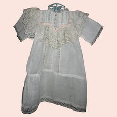 Antique Baby Gown with Luscious Lace Bodice and Openwork