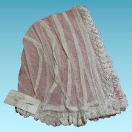 Antique Net Lace Baby Bonnet 1886 Doctor Johns Baby Bonnet Cool for Summer