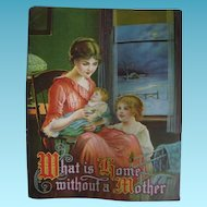 Mother Baby Child Early 1900s Lithograph to Frame