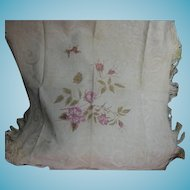 Woven Fringed Ecru Table Cover for Small Table