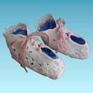 White Eyelet Broderie Anglaise Baby Shoes Perfect for Summer Time
